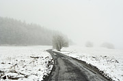 Snowy Road Posters - Winter Landscape Poster by Michal Boubin