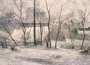 Snow On Trees Prints - Winter Landscape Print by Paul Gauguin