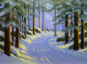 Ski Painting Originals - Winter landscape Study 1 by Frank Wilson