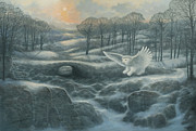 Marte Thompson - Winter Landscape with Owl