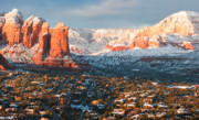 Red-rock Country Prints - Winter Light in Sedona Print by Carl Amoth