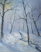 Snow Scene Oil Paintings - Winter Light by  Luczay
