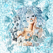 Jewels Digital Art Posters - Winter Poster by Mo T
