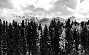 Cloudy Skies Posters - Winter Mountain Poster by The Forests Edge Photography