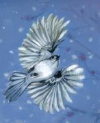 Flying Bird Paintings - Winter Muse by Michael Scholl