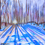 Asheville Painting Posters - Winter Poster by Nancy Hilliard Joyce