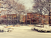 Nyc Snow Prints - Winter - New York City Print by Vivienne Gucwa