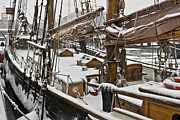 Wooden Ship Photo Framed Prints - Winter on Deck Framed Print by Heiko Koehrer-Wagner