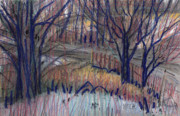 Snow Pastels Originals - Winter on Dickson Road by Donald Maier