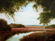 Marshland Posters - Winter On the Marsh Poster by Glenda Cason