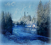 Country Digital Art Metal Prints - Winter Paradise Metal Print by Lianne Schneider