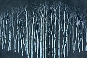 Relief Print Art - Winter by Pati Hays