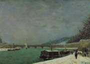 Barges Prints - Winter Print by Paul Gauguin