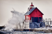 Grand Haven Prints - Winter  Rage Print by James Marvin Phelps