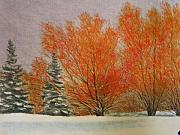 Snow Pastels - Winter Red by Mark Henthorn