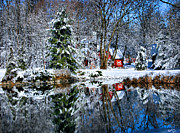 Kristin Elmquist Metal Prints - Winter Reflection Metal Print by Kristin Elmquist