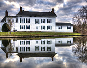 Georgian Landscape Prints - Winter Reflections Print by Vicki Jauron