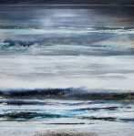 Winter-landscape Mixed Media - Winter Rhythms Redesdale Blue Series 2009 by Mike   Bell