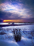 Environement Photo Posters - Winter Rising Poster by Phil Koch