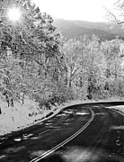 Country Lanes Photo Prints - Winter Road - Virginia Print by Brendan Reals