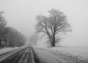 Freeport Prints - Winter Road Print by David Bearden