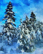 Siberia Digital Art - Winter Scene by Yury Malkov