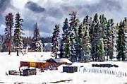 Ranch Digital Art - Winter Seclusion by Jeff Kolker