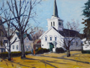 Baptist Painting Originals - Winter Services by Chris Coyne