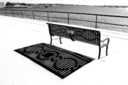 Snow. Ocean Prints - Winter Shadows Print by Greg Fortier