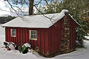 Susan Leggett Acrylic Prints - Winter Shed Acrylic Print by Susan Leggett