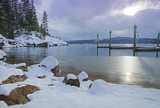 North Idaho Framed Prints - Winter Shore Framed Print by Idaho Scenic Images Linda Lantzy