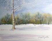 Snow Scene Paintings - Winter Silence by Jan Cipolla