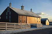 Pennsylvania Barns Photos - Winter Snowfall Frosts A Barn by Stephen St. John