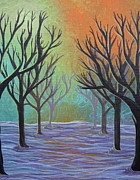 Outside Ice Paintings - Winter Solitude 11 by Jacqueline Athmann