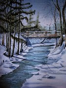 Winter Solitude Print by Marylyn Wiedmaier
