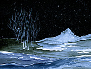 Snowscape Painting Posters - Winter Solstice Poster by Brenda Owen