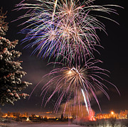 Birch River Prints - Winter Solstice Fireworks Print by Gary Whitton