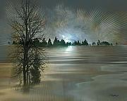 Winter Trees Art - Winter Solstice by Jean Gugliuzza