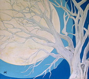 Fantasy Tree Art Paintings - Winter Solstice by Wayne Devon