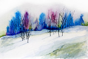 Snow Drifts Painting Posters - Winter Sorbet Poster by Lynne Furrer