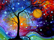 Megan Duncanson Metal Prints - Winter Sparkle by MADART Metal Print by Megan Duncanson