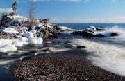 Pebbles Photos - Winter Splash by Sebastian Musial