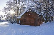 Sun Weathered Prints - Winter Stable Print by Idaho Scenic Images Linda Lantzy