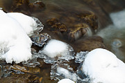 Drips Prints - Winter Stream Flow over Rocks Print by Gordon Wood