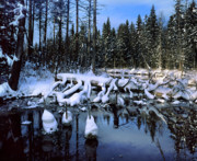 Large Format Prints - Winter stream Print by Romeo Koitmae