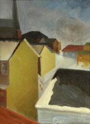 Forties Paintings - Winter Street by Willoughby  Senior