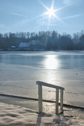 Photo Manipulation Photo Posters - Winter Sun at the Lake Poster by Jutta Maria Pusl