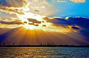 Miami Beach Framed Prints - Winter Sunrise over Miami Beach Framed Print by William Wetmore
