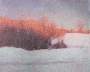 Pointillism Originals - Winter Sunset by Catherine Bath