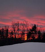 Linda Drown - Winter Sunset in Maine